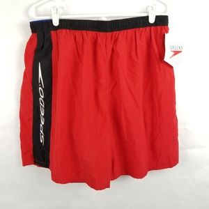 NWT Speedo Swim Trunks Shorts Red XL